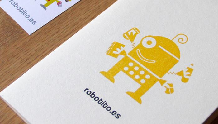 Detalle de la libreta del robotito