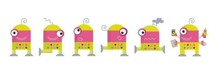 El robotito en diferentes posiciones