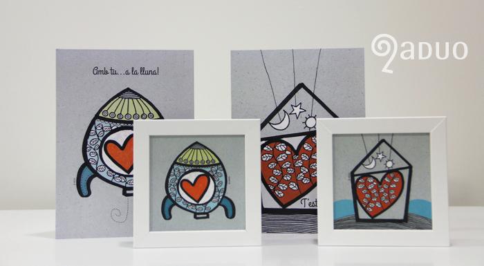 ADUO-ilustracion-san-valentin-minicuadros-postales